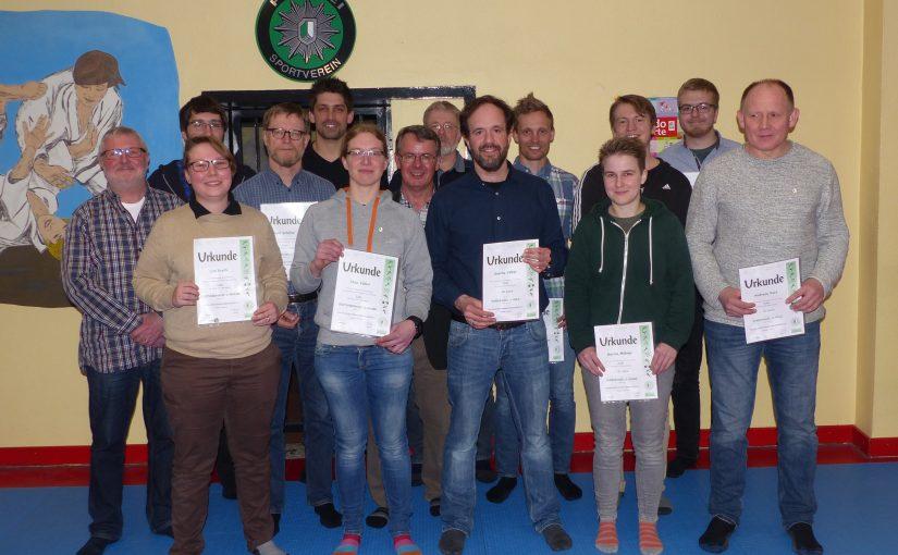 Jahreshauptversammlung 2018 der Abteilung Judo des PSV Oberhausen 14.03.2018