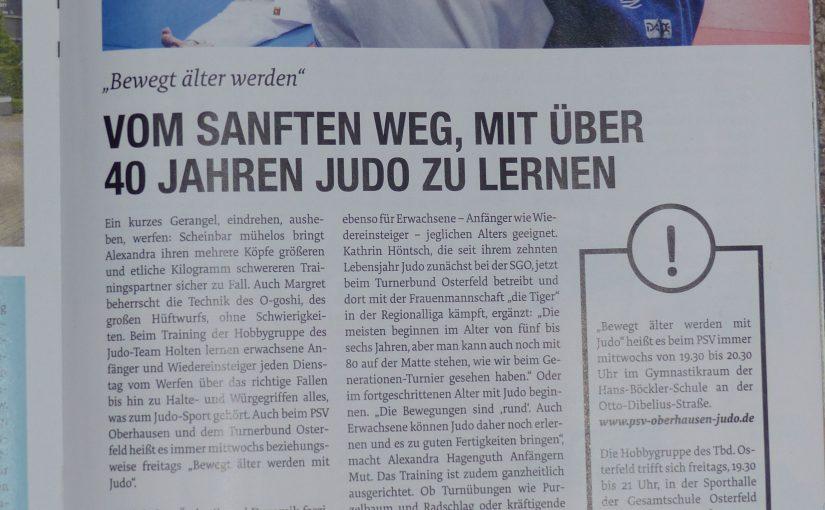 PSV Abteilung Judo im OH!-Stadtmagazin