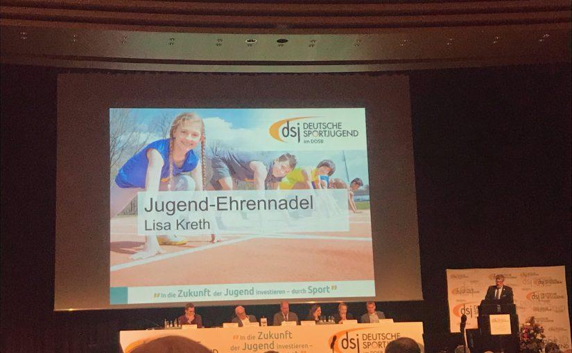 Ehrung für Lisa Kreth durch die Deutsche Sportjugend
